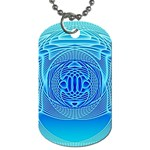 Swirling Dreams, Aqua Dog Tag (Two Sides) Front