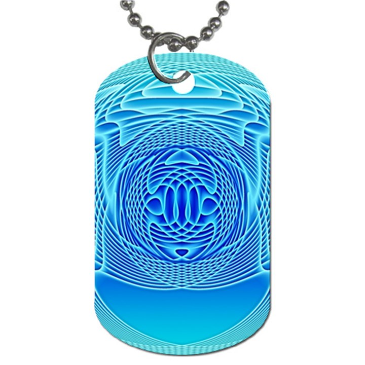 Swirling Dreams, Aqua Dog Tag (Two Sides)