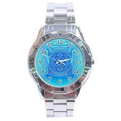 Swirling Dreams, Aqua Stainless Steel Men s Watch by MoreColorsinLife
