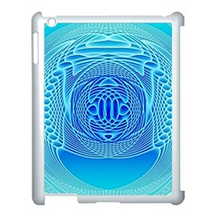 Swirling Dreams, Aqua Apple Ipad 3/4 Case (white) by MoreColorsinLife