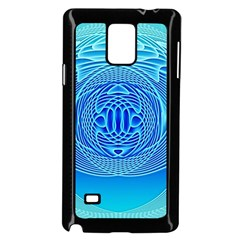 Swirling Dreams, Aqua Samsung Galaxy Note 4 Case (Black) by MoreColorsinLife