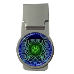 Swirling Dreams, Blue Green Money Clips (round)  by MoreColorsinLife