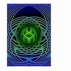 Swirling Dreams, Blue Green Large Garden Flag (Two Sides) by MoreColorsinLife