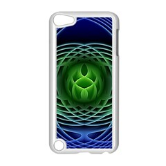Swirling Dreams, Blue Green Apple iPod Touch 5 Case (White) by MoreColorsinLife