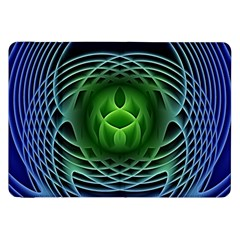 Swirling Dreams, Blue Green Samsung Galaxy Tab 8 9  P7300 Flip Case by MoreColorsinLife