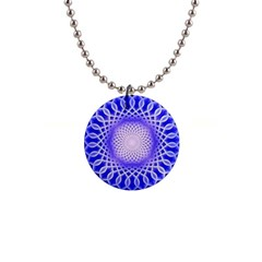 Swirling Dreams, Blue Button Necklaces