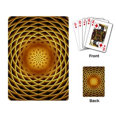 Swirling Dreams, Golden Playing Card by MoreColorsinLife