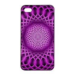 Swirling Dreams, Hot Pink Apple Iphone 4/4s Seamless Case (black) by MoreColorsinLife