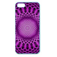 Swirling Dreams, Hot Pink Apple Seamless Iphone 5 Case (color) by MoreColorsinLife