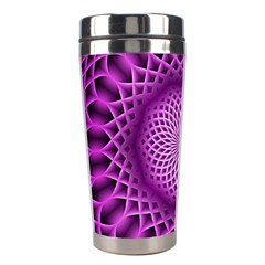 Swirling Dreams, Hot Pink Stainless Steel Travel Tumblers by MoreColorsinLife