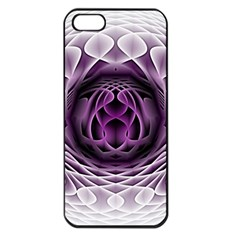 Swirling Dreams, Purple Apple Iphone 5 Seamless Case (black) by MoreColorsinLife