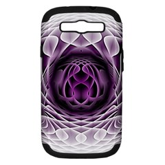 Swirling Dreams, Purple Samsung Galaxy S Iii Hardshell Case (pc+silicone) by MoreColorsinLife