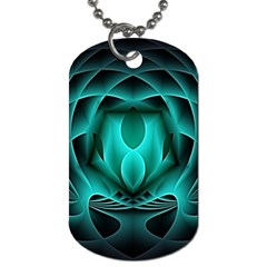 Swirling Dreams, Teal Dog Tag (two Sides) by MoreColorsinLife
