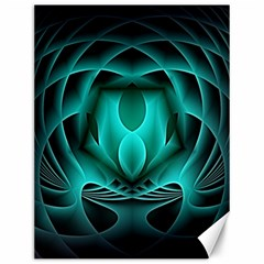 Swirling Dreams, Teal Canvas 12  X 16   by MoreColorsinLife
