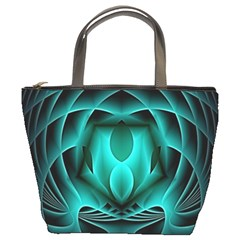 Swirling Dreams, Teal Bucket Bags by MoreColorsinLife