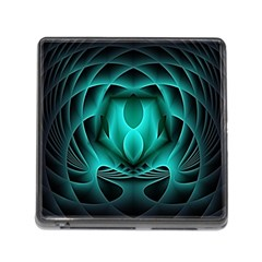 Swirling Dreams, Teal Memory Card Reader (square) by MoreColorsinLife