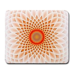 Swirling Dreams,peach Large Mousepads by MoreColorsinLife