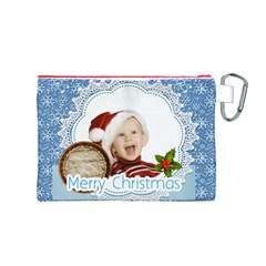 Xmas By Man   Canvas Cosmetic Bag (medium)   G51kl6y3fw7g   Www Artscow Com Back