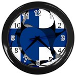 Finland Wall Clock (Black)