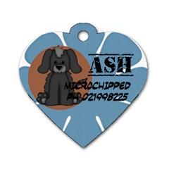 Ash By Brigitte Winnard   Dog Tag Heart (two Sides)   Vubs2nqrunvc   Www Artscow Com Front