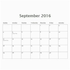 2016 Calendar By Christine   Wall Calendar 11  X 8 5  (12 Months)   Vi713qn183v0   Www Artscow Com Sep 2016