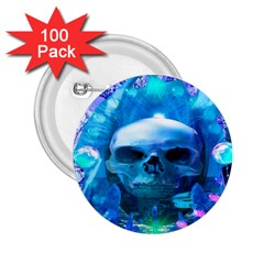 Skull Worship 2 25  Buttons (100 Pack)  by icarusismartdesigns