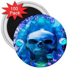 Skull Worship 3  Magnets (100 pack)