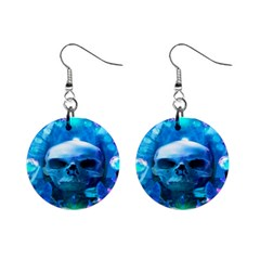 Skull Worship Mini Button Earrings by icarusismartdesigns