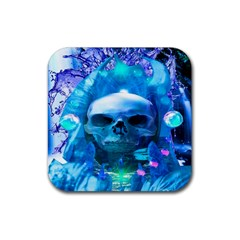 Skull Worship Rubber Square Coaster (4 Pack)  by icarusismartdesigns