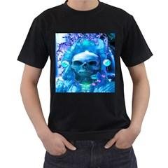 Skull Worship Men s T-Shirt (Black) (Two Sided)
