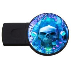Skull Worship USB Flash Drive Round (4 GB)