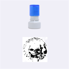 Skull Worship Rubber Round Stamps (small)