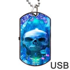 Skull Worship Dog Tag USB Flash (One Side)
