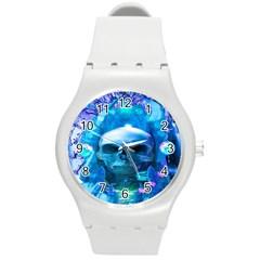 Skull Worship Round Plastic Sport Watch (M)