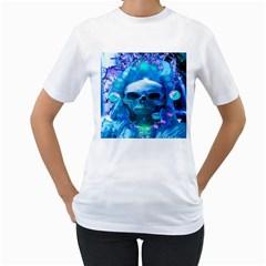 Skull Worship Women s T-Shirt (White)