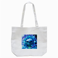 Skull Worship Tote Bag (white)  by icarusismartdesigns