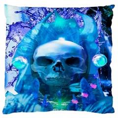 Skull Worship Large Flano Cushion Cases (One Side)