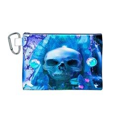 Skull Worship Canvas Cosmetic Bag (m) by icarusismartdesigns