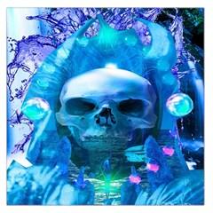 Skull Worship Large Satin Scarf (Square)