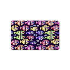 Colorful Fishes Pattern Design Magnet (name Card) by dflcprints