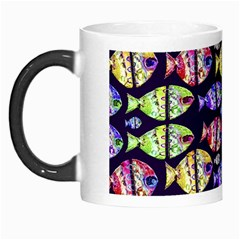 Colorful Fishes Pattern Design Morph Mugs by dflcprints
