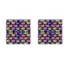 Colorful Fishes Pattern Design Cufflinks (square) by dflcprints