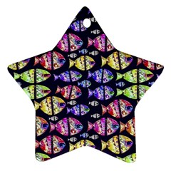 Colorful Fishes Pattern Design Star Ornament (two Sides)  by dflcprints