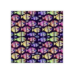 Colorful Fishes Pattern Design Acrylic Tangram Puzzle (4  X 4 ) by dflcprints