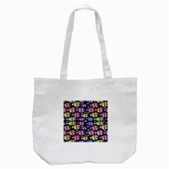 Colorful Fishes Pattern Design Tote Bag (white)  by dflcprints