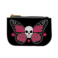 Monarch Skull: Pink Version Coin Change Purse by Ellador