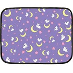 Rabbit of the Moon Mini Fleece Blanket (Single Sided)