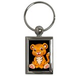 Little Tiger Key Chain (Rectangle)