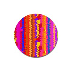 Colorful Pieces Magnet 3  (round) by LalyLauraFLM