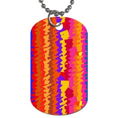 Colorful Pieces Dog Tag (one Side) by LalyLauraFLM